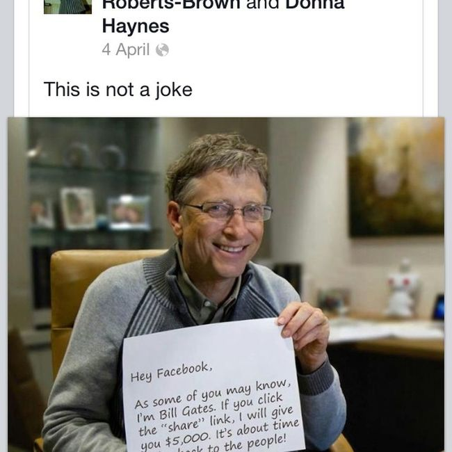 How gullible are people ...Overonfacebook