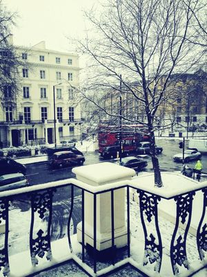First snow in City of London by Bruno