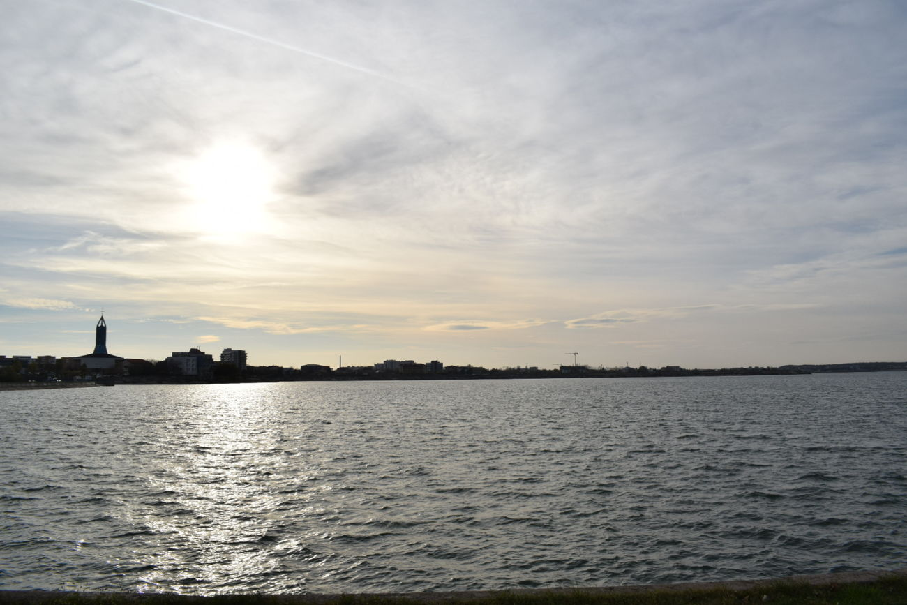 Urban Skyline City Water Reflection Sky Cloud - Sky Travel Destinations No People Nature Day Moments Scenics NIKON D5300