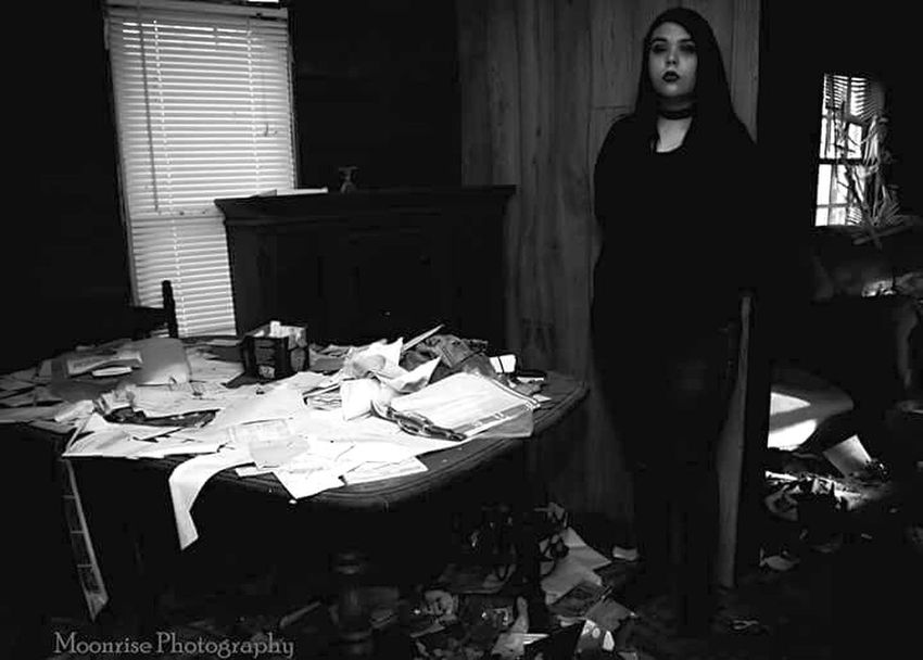 Only Women One Woman Only One Person Horror Indoors  Home Interior Night Young Adult People One Young Woman Only Pose Architecture Abandoned Spooky Dirty Blackandwhite Blackandwhite Photography Black&white Beautiful Woman Creepy House