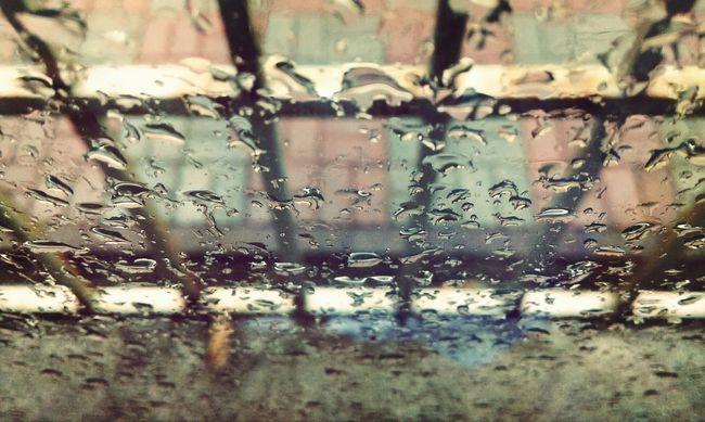 Raining Day Raining Outside Windows Beautiful Sight