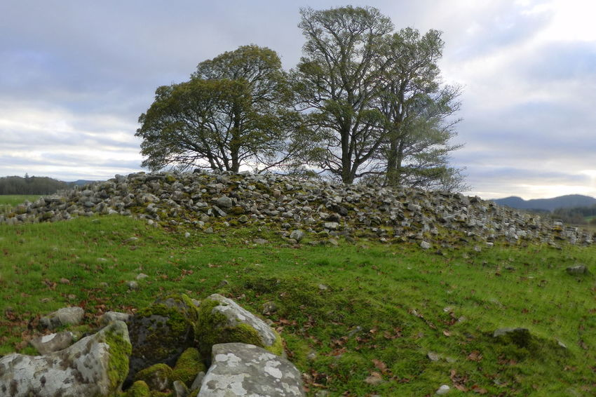 Kilmartin Scotland Beauty In Nature Cairn Cloud - Sky Day Field Grass Green Color Growth Landscape Nature No People Outdoors Scenics Sky Tranquil Scene Tranquility Tree