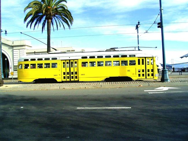 Mode Of Transport Transportation Blue No People Sky Public Transportation Outdoors Vertical Day SanFranciscoBay California Love Yellow Color