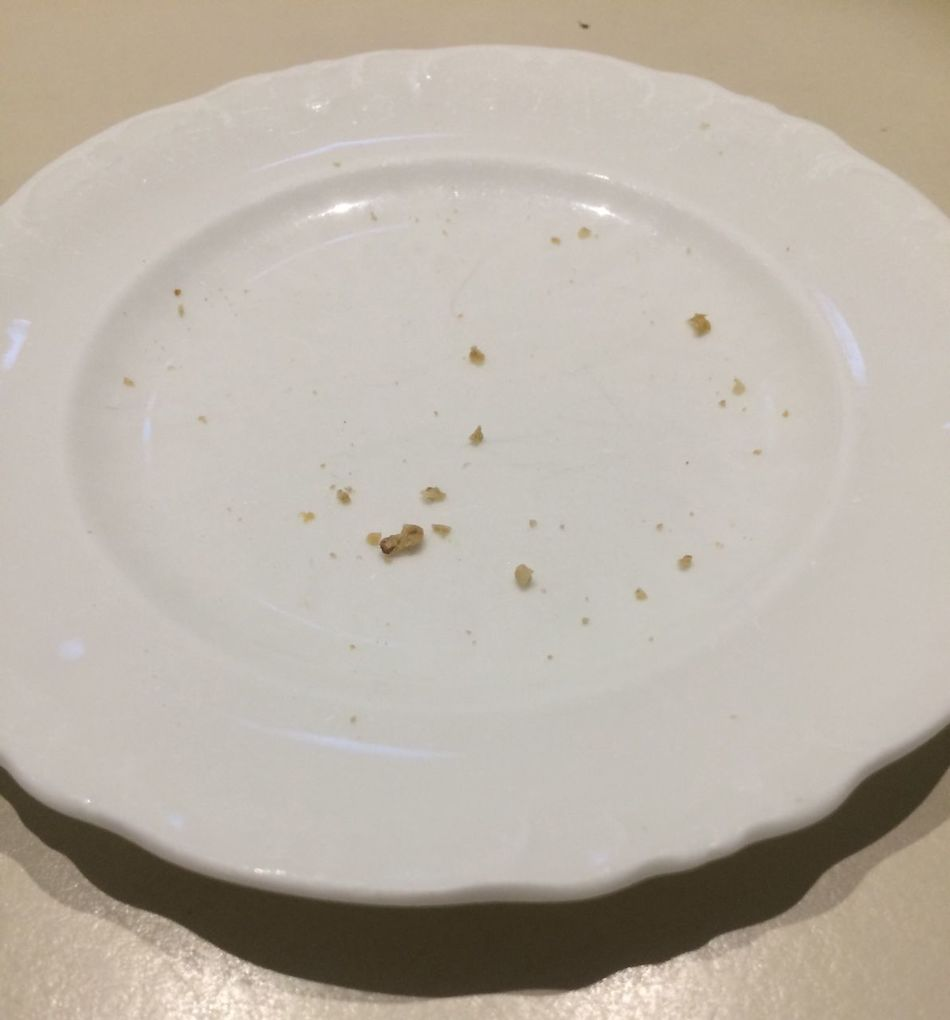 Eaten Oatcake Crumbs Food Plate Food And Drink Indoors  Close-up No People Ready-to-eat