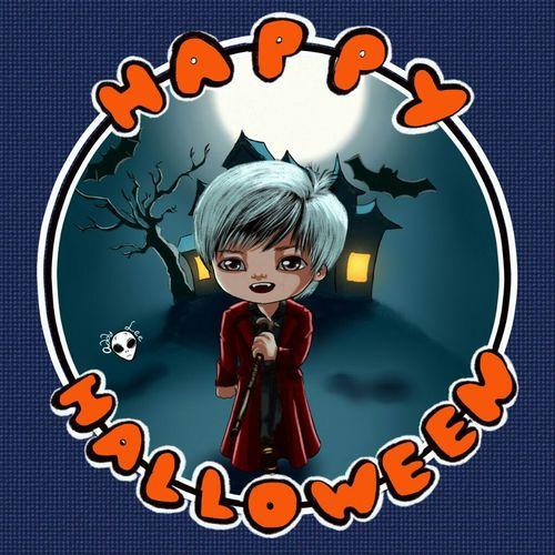 Sungmin Chibi Superjunior Happyhalloween Vampire