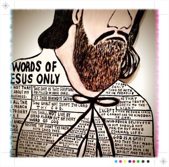 Process Project ArtWork Jesus Words Words Of Wisdom... Religion IPhoneography Brown