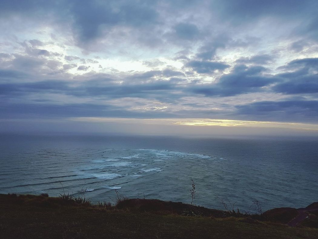 Where the Tasman Sea meets the Pacific Ocean at the top of New Zealand. Water Sea Landscape Nature Cloud - Sky Outdoors Beauty In Nature Horizon Over Water Tranquil Scene New Zealand Dramatic Sky NZ Newzealand Sunset Capereinga