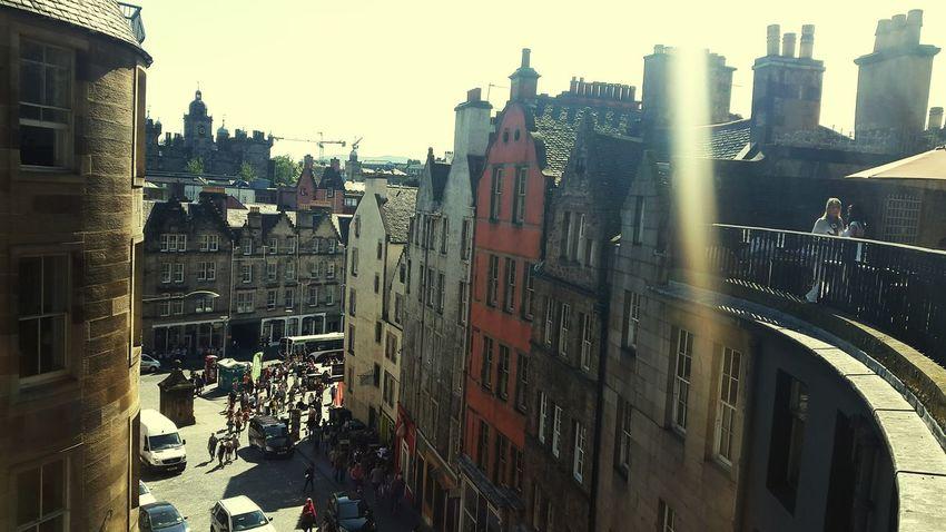 Edinburgh Sunshine Walking Around Bars