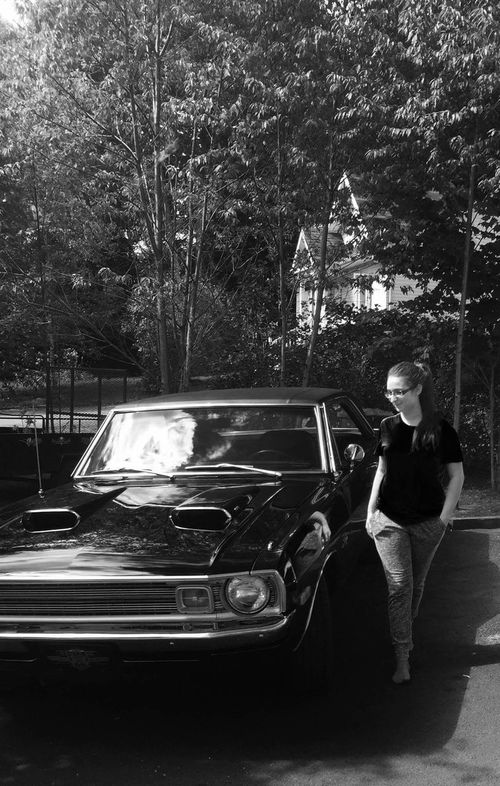 Muscle Cars Cars Passion Summertime Lifestyles Photography Autoportrait Outdoors Racers Ride Or Die Cargirls Darksoul Blackandwhitephotography Trees Forest Pictureoftheday Me Beauty In Ordinary Things