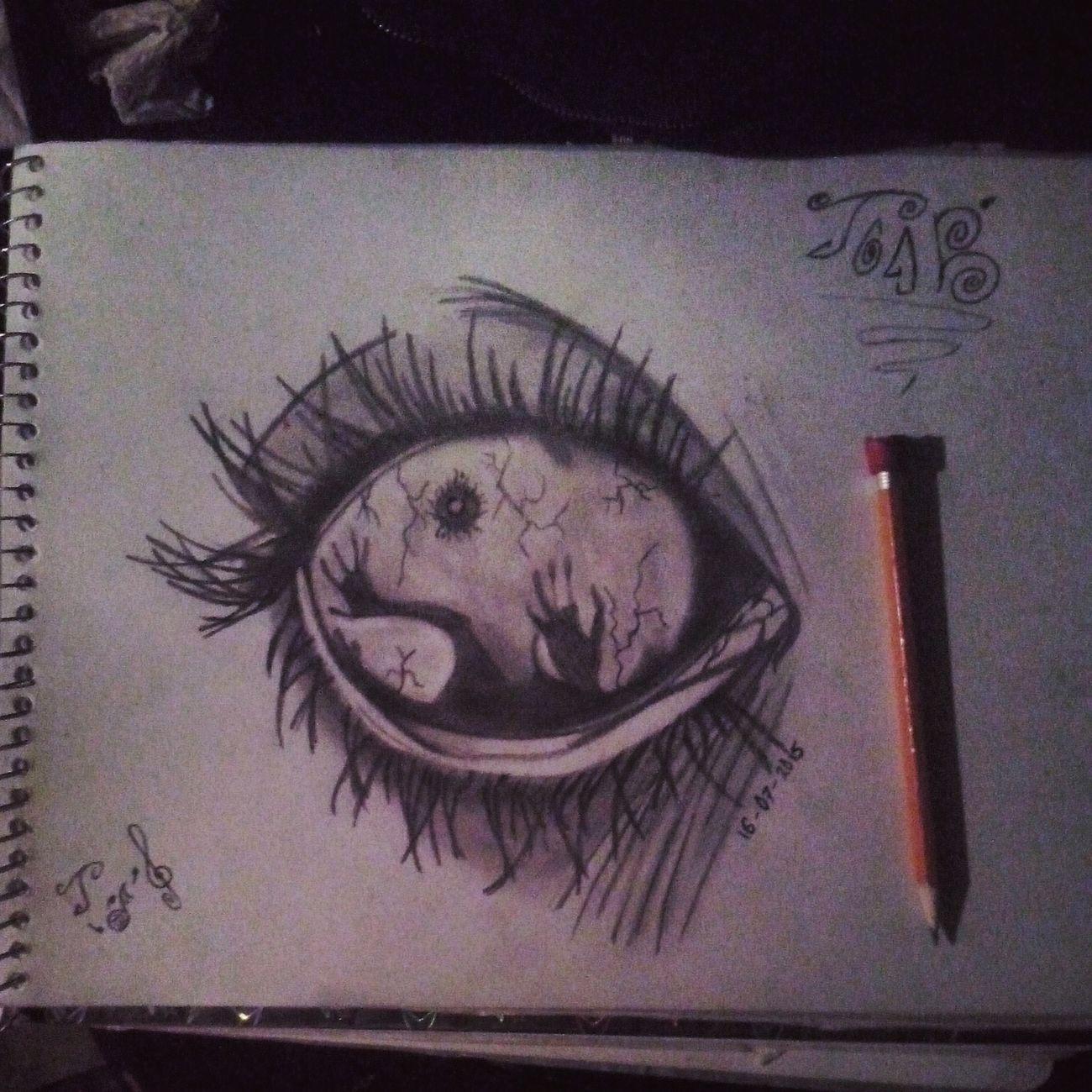 La Mente Detras Del Lapiz Dibujo Mis Dibujos Drawingtime Dibujo A Lapiz Art, Drawing, Creativity Ojo Eye Artistic Arte