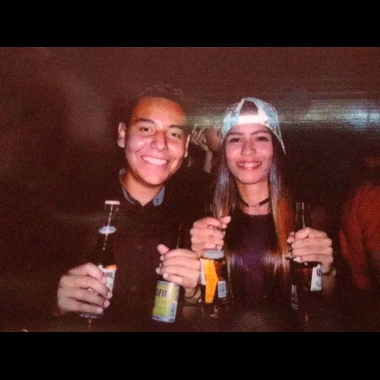 alcohol, drink, drinking, beer, food and drink, refreshment, happy hour, beer glass, beer - alcohol, smiling, looking at camera, bar counter, friendship, portrait, togetherness, bar - drink establishment, happiness, two people, indoors, night, young adult, young women