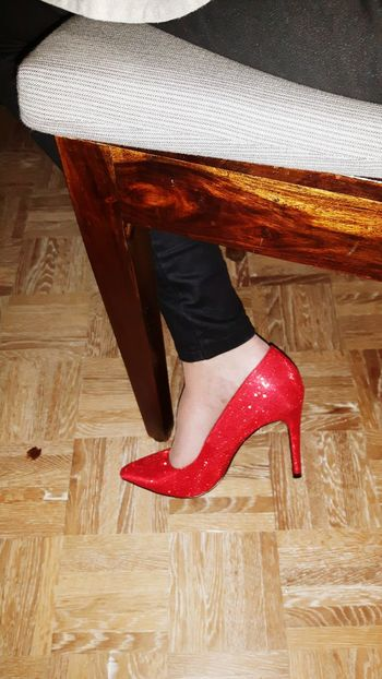 Shoe Red Shoe Elegant Brilliant Colour Christmas Dinner Enjoying The Moment Family❤ Relaxing Time EyeEm Gallery Eye4photography