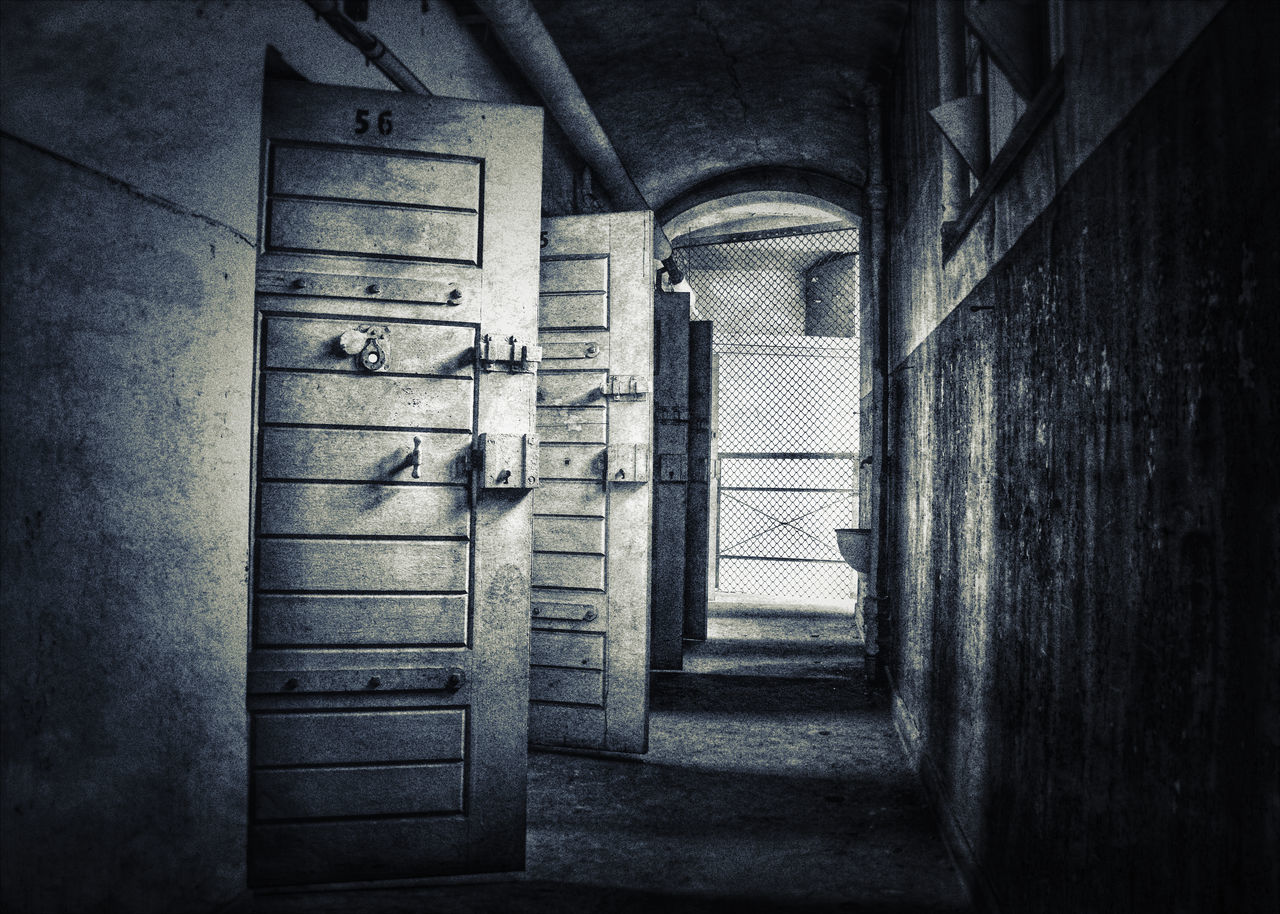 Abandoned Abandoned Buildings Abandoned Places Architecture Built Structure Day Doors Hallway Indoors  Lost Places No People Open Prison Prison Cell
