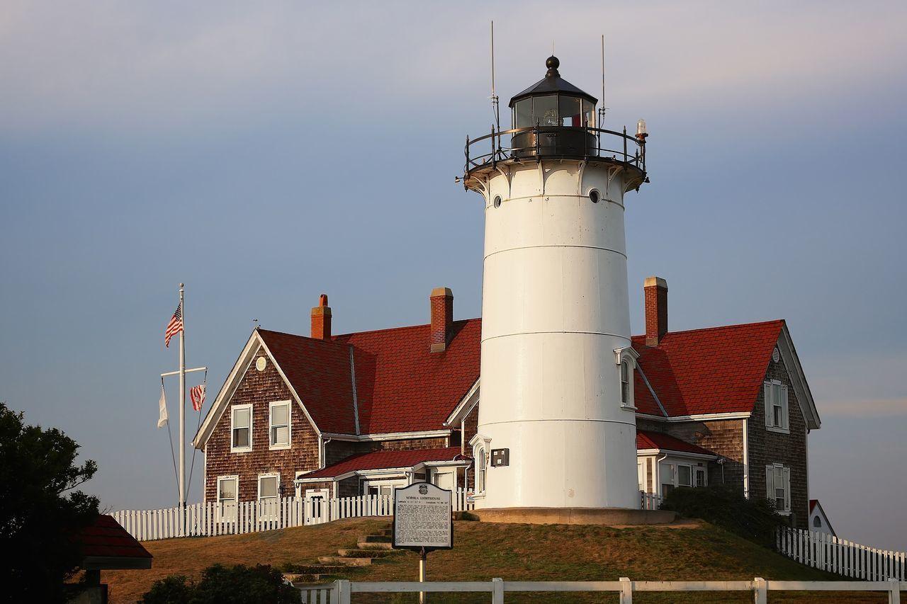 Cape Cod East Coast Falmouth Lighthouse Massachusetts New England  Nobska Nobska Light