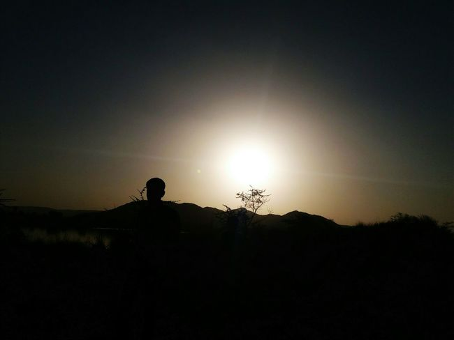 Silhouette Nature Sky Night Landscape Beauty In Nature Only Men One Man Only Outdoors Adults Only One Person People Adult