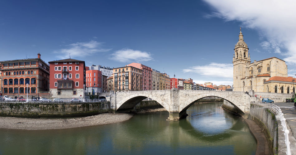 Architecture Basque Country Bilbao Bizkaia Bridge - Man Made Structure Building Exterior Built Structure City Day Euskadi History No People Outdoors Panoramic River San Antón Sky Travel Destinations Vizcaya Water