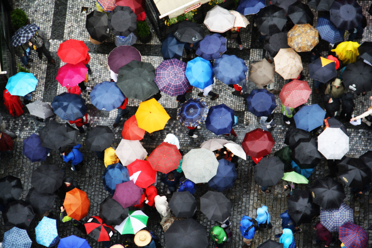 Colorful Colors Colorsplash Multi Colored Rain Raining Raining Day Rainy Day Rainy Days Shower Umbrella Umbrellas Praga Rainy EyeEm Best Shots EyeEm Gallery Market Bestsellers June 2016 Bestsellers