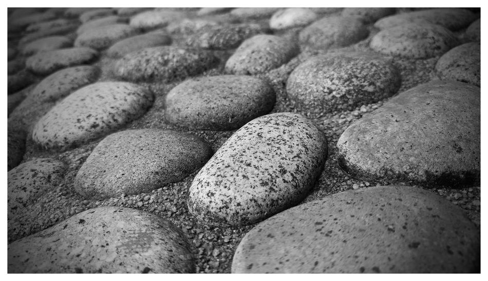 Black & White Blackandwhite Commonwealth Ground Hard Pepples Round Stones Surrounded Team Fresh On Eyeem