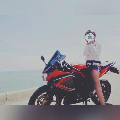 อากาศร้อนต้องเที่ยวชะอำ แต่ชอบไปบางแสนมากกว่า อิอิ Bigbikethailand Sportbike Cbr150r Bikers thailand trip