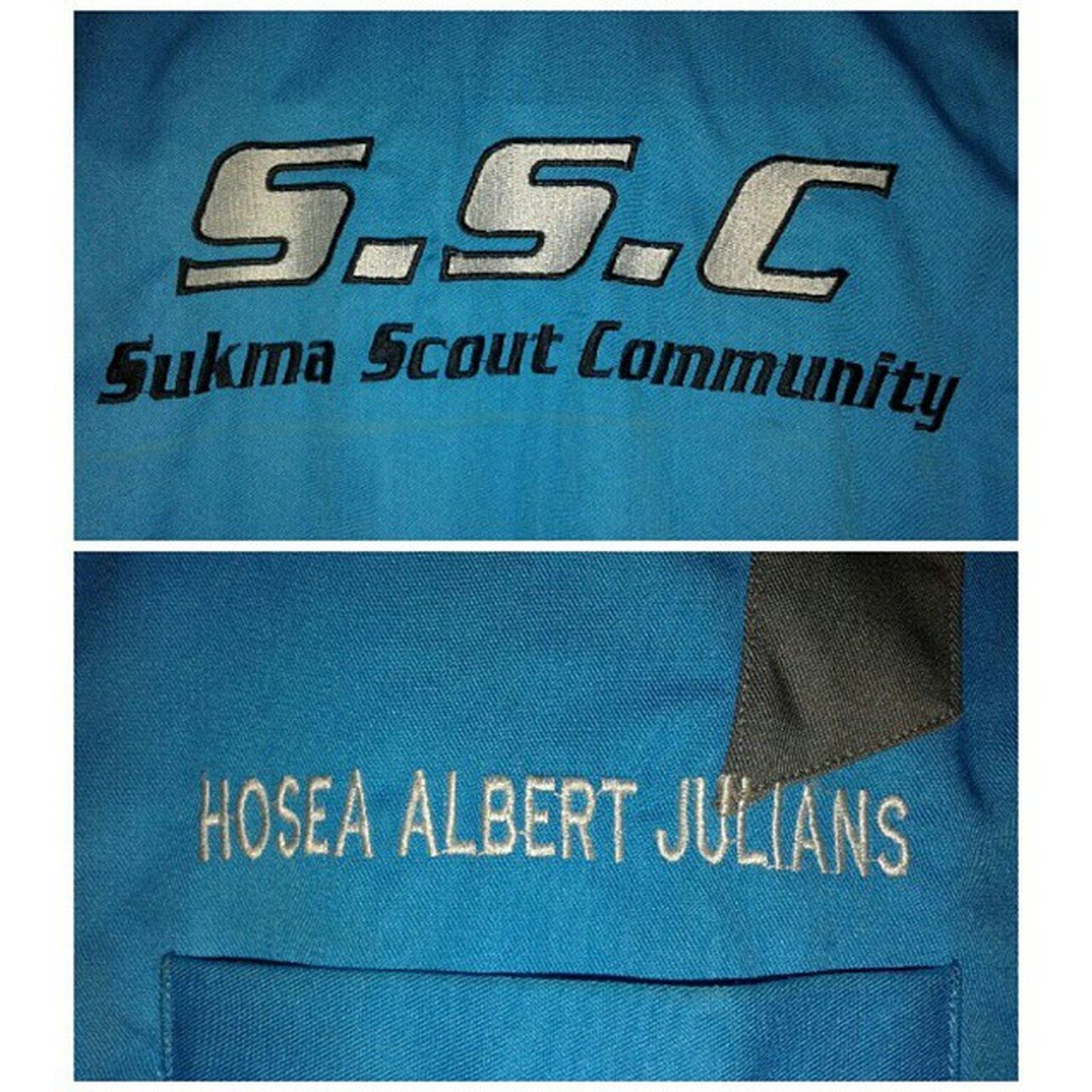 "Kemeja Baru ""Puji Tuhan"" Scout SSC Pramuka Kalbar sukma"