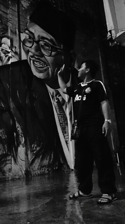 Shades Of Grey Streetart Tun Abdul Rahman
