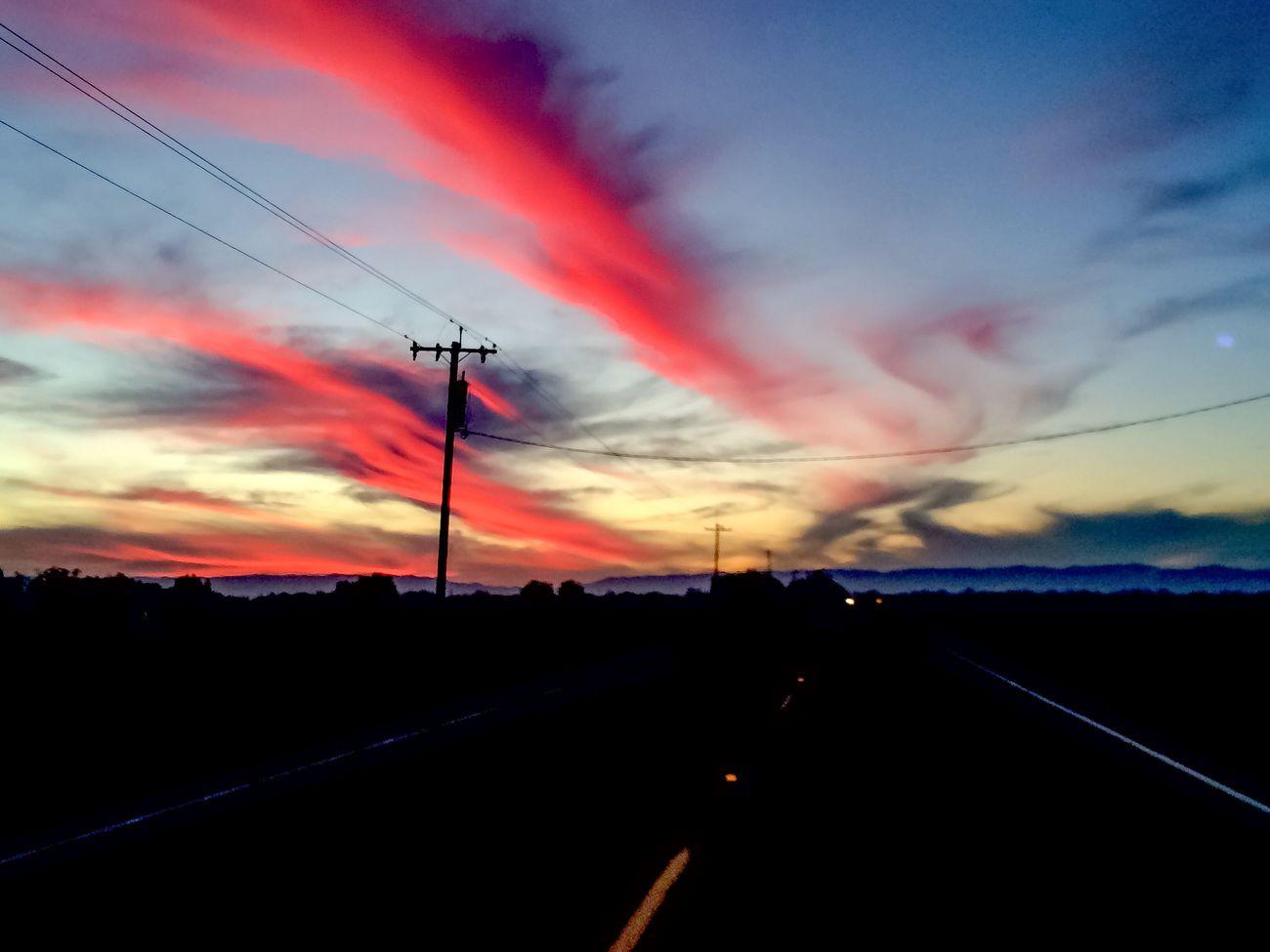 Driving near Winters, CA