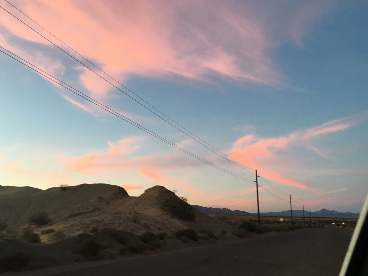 Power Line  Sky Cloud - Sky Mountain Scenics Outdoors Connection No People Electricity  Low Angle View Landscape Sunset Sunset Sillhouettes Driving Around Backroads