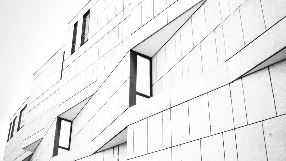 Architecture Architecture Modern Architecture Modern Blackandwhite Black & White Blackandwhite Photography Pattern Pattern, Texture, Shape And Form Perspective No People Façade Facade Building Love Architecture Detail Outdoors Building Building And Sky Built Structure Building Exterior Angle Lines Lines And Shapes EyeEm EyeEmNewHere