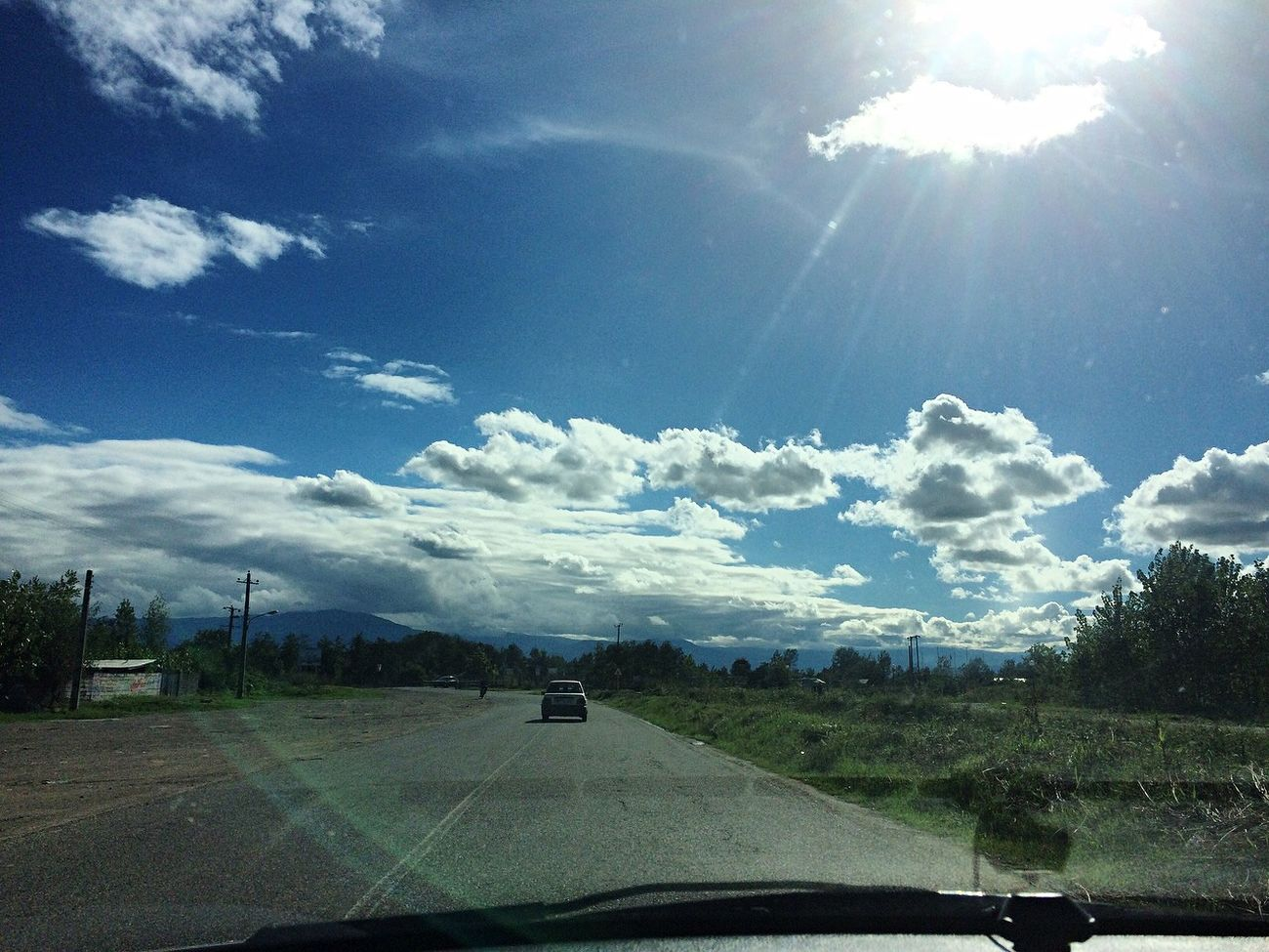 Iran♥ Gilan Astane Autumn🍁🍁🍁 Autumn Collection Iran IPhoneography Fall On The Road Sky And Clouds