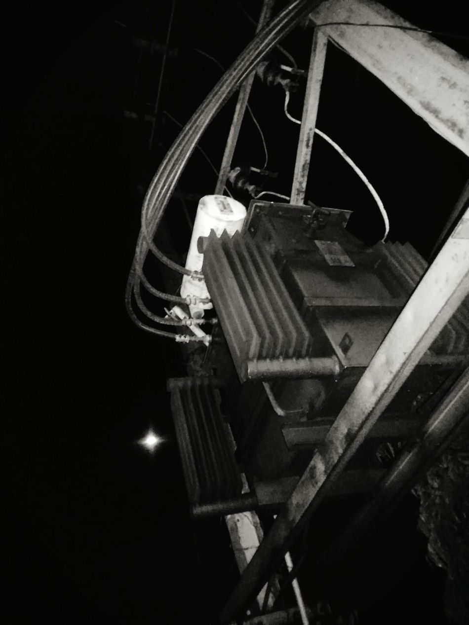 Low Angle View Night No People Light And Shadows Mobile Photography Edited This Myself Road Side Photography Outdoor Photography Outdoors❤ Beauty In Nature Outdoorlife Moon High Angle View Selective Focus Transformer Electrical Equipment Power Distribution Unit