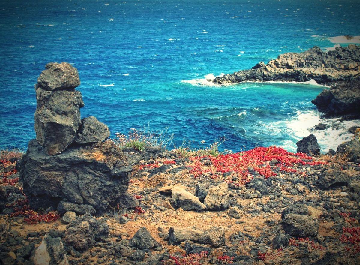 chliffs on atlantic coast of tenerife, canary islands. waves breaking on the vulcanic rocks. Tenerife Canary Islands Teneriffa Canary Montana Amarilla