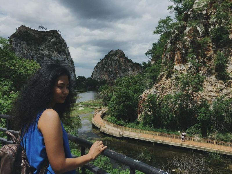 Khaongu Ratchaburi, Thailand Nature National Nationalpark Tree Rock - Object