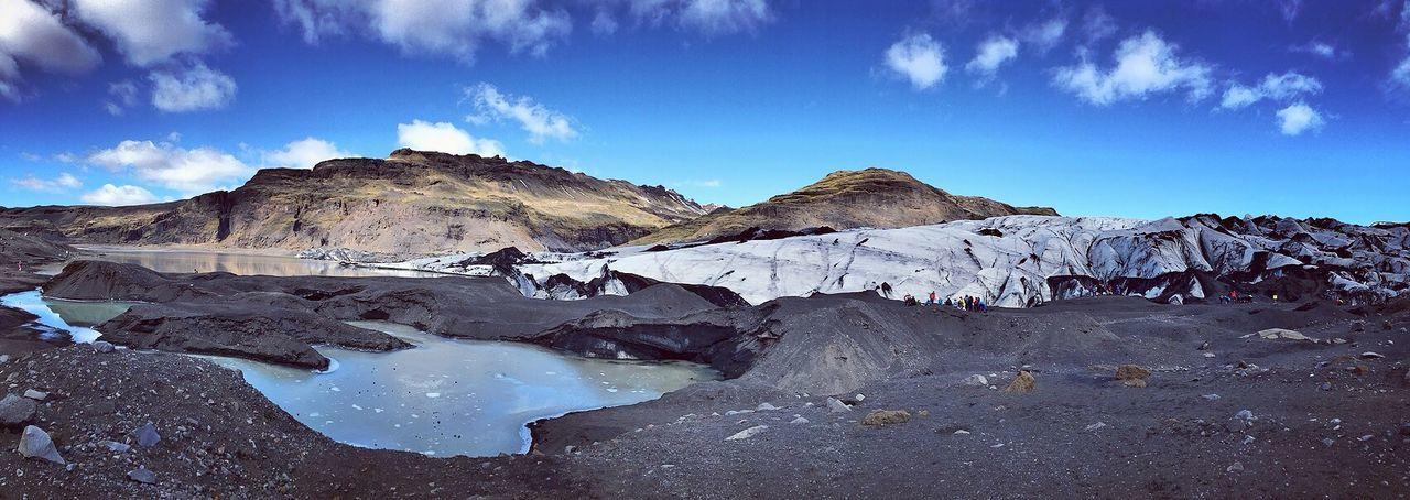 Glacier Landscape Nature Mountain Travel Glacier Iceland
