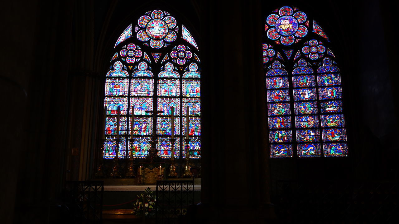 Architectural Detail Architectural Feature Architecture Architecture_collection Beautiful Church Church Architecture Churches Exploring Exploring New Ground Eye4photography  French House Of God Indoors  Photography Place Of Worship Religion Spirituality Stained Glass Taking Photos Taking Pictures Travel Destinations Traveling Window Windows