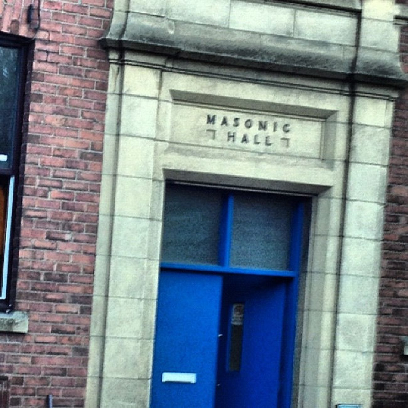 Hetton MasonicHall Masons Secret club blue door doorway building sunderland northeast england instahub instanow instacapture interesting