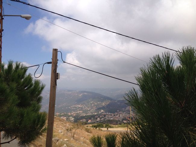 Mountains Lebanon Powerlines Man And Nature