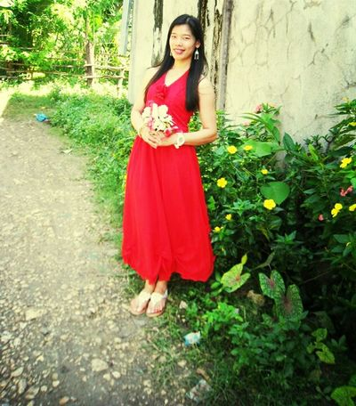 you make me smile.ツFashion&love&beauty Lady In Red Red Fashion