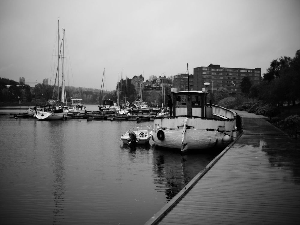 Not so much colors 😬 Transportation Nautical Vessel Mode Of Transport Moored Building Exterior Water Built Structure Boat Waterfront Architecture River Outdoors Sky No People Day Mast Nature Shallow Depth Of Field Monochrome Blackandwhite Black And White Black & White