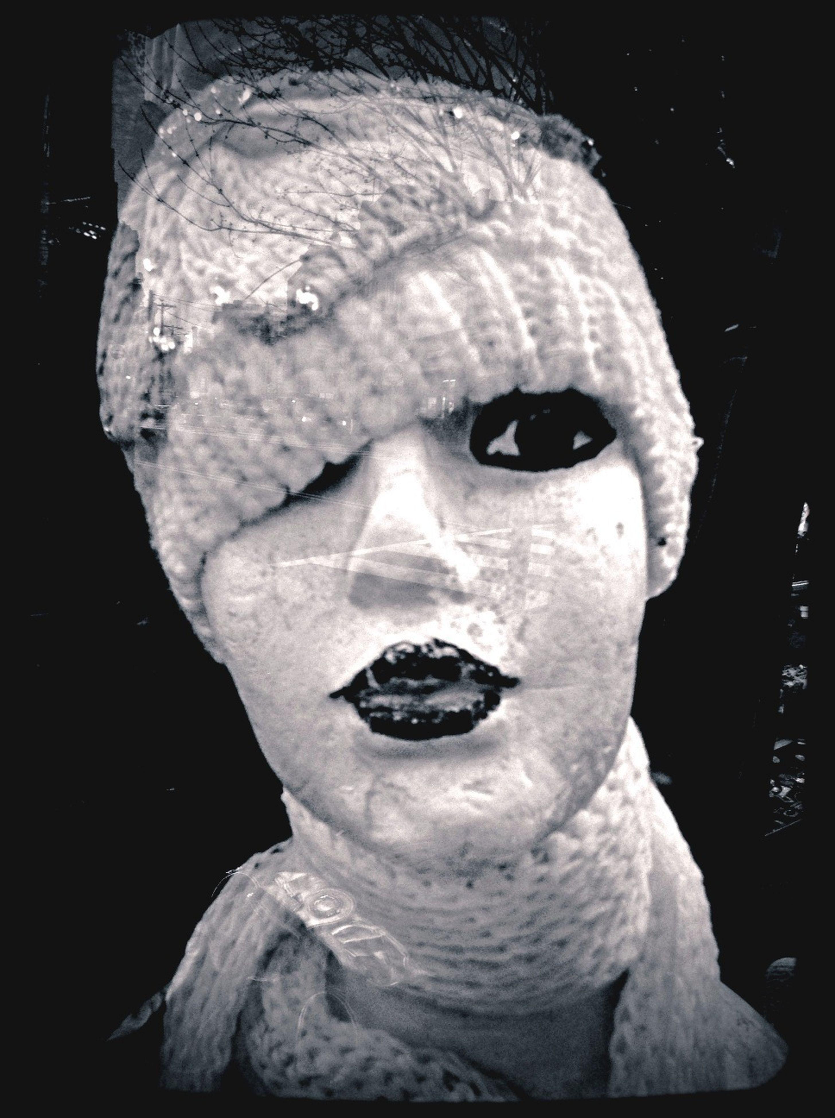 close-up, cold temperature, winter, snow, human representation, indoors, night, art and craft, creativity, sculpture, holding, black background, art, frozen, front view, reflection, studio shot, men