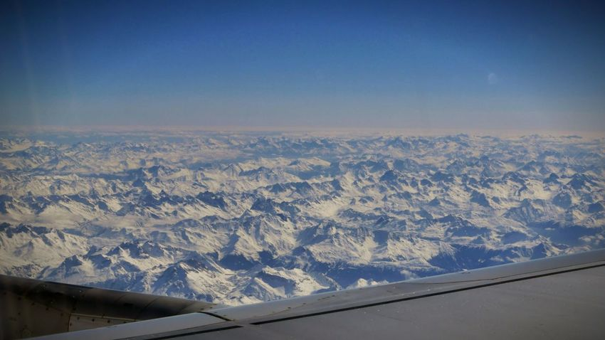 Color Palette Flying over Switzerland   Taking Photos Hello World Looking Out The Window Airplane Airplane Shot Window View Top Of The Mountains Switzerland_2016 Flying In The Sky Looking Out Swiss Mountains Sky And Clouds Sky_collection Blue Sky Mountain_collection Mountains And Sky Airplaneview Flying Swissair Landscape Landscape_Collection Landscape_photography Airplane Wing