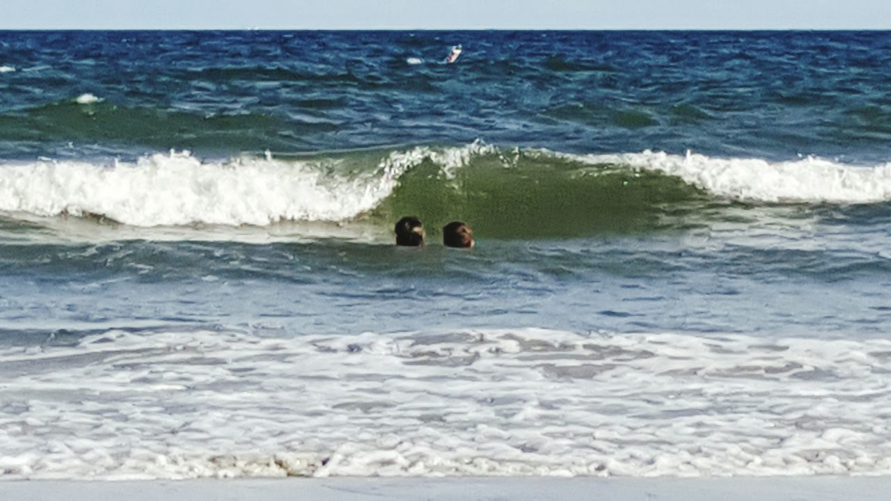 In the Waves Waves Ocean Siblings Sibs Surf Water Peaceful Foam Beach Photography Ocean View Beach Hilton Head Island Hhi HiltonHead Atlantic Atlantic Ocean Favorite Places Travel Photography Two Is Better Than One Family Southcarolina Mykids Brother & Sister The Essence Of Summer