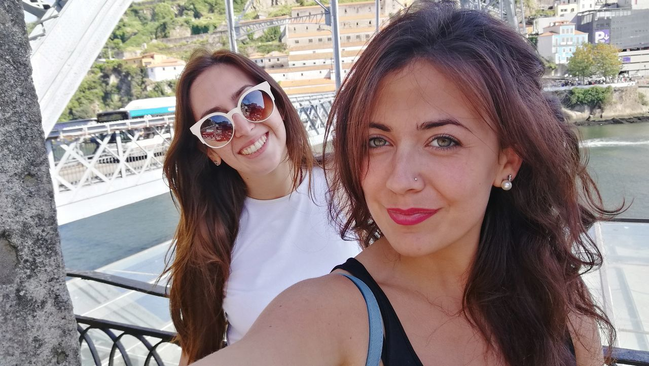 Me and my dear friend Francesca Obrigada Friendship Friends Portrait Two People Day Looking At Camera Smiling Photography Themes Selfie Ocean View Portugal Douro  Douroriver Photolover Scorcio Architecture Peace Tourist View Serenity Outdoors Porto Oporto Thankyou
