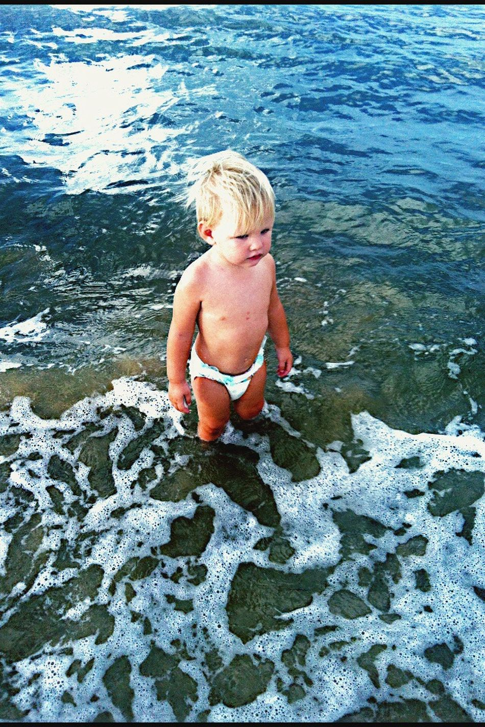 My youngest grandson Ali having a swim at Raybebay Taking Photos