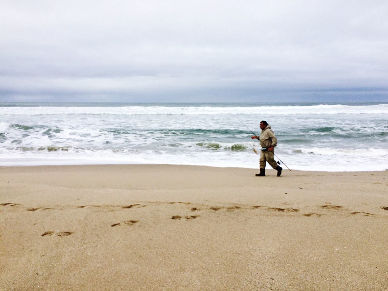 Fishing Beach Waves