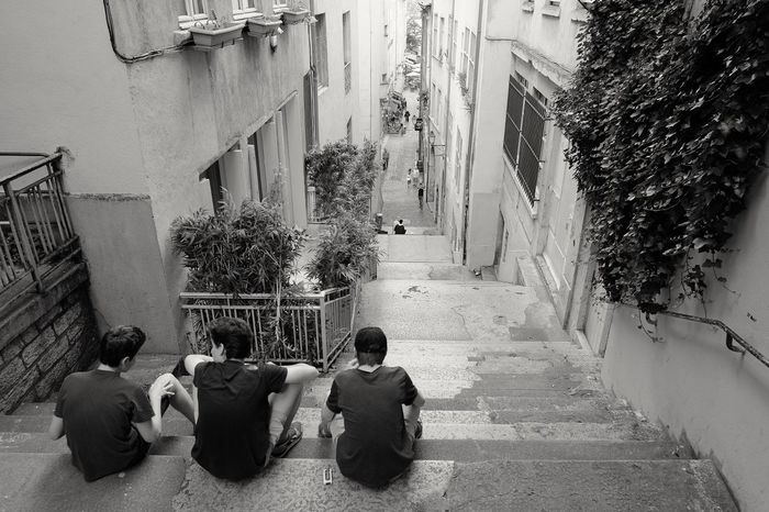 Street Photography Youngboys Steps Street Blackandwhite Black And White Friends