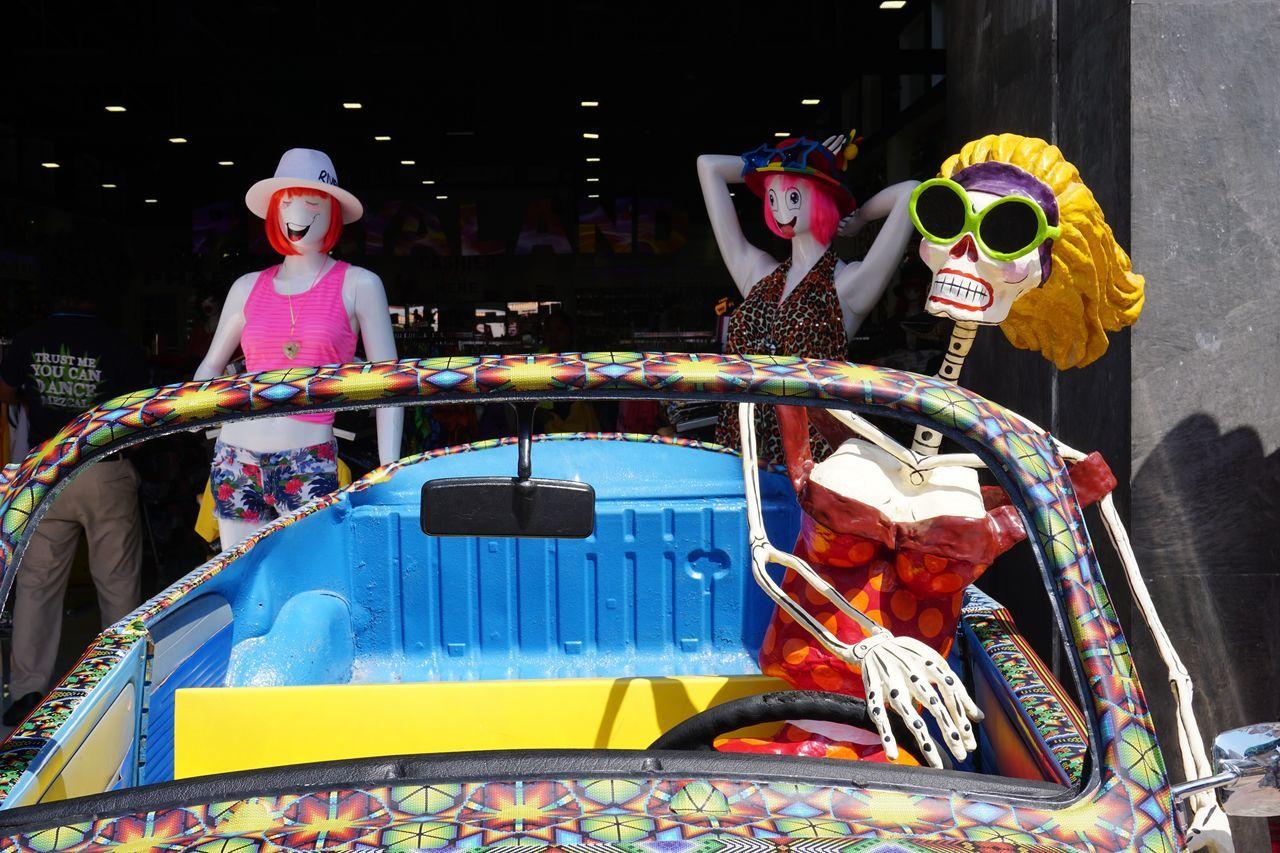 2016 Doll Dress Fashion Fashionable Figure Isla Mujeres Mannequin Mexico Skeleton Skull Summer Sunglasses Vacations Woman イスラムヘーレス スカル ドクロ メキシコ Car Shop Driver Open Car