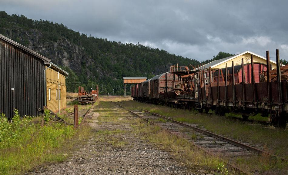 End of he line Abandoned Building Car Cloud - Sky Nikon Norge Norway Outdoors Railroad Track Railway Setesdalsbanen Train - Vehicle Train Carriage Vennesla Vest-agder