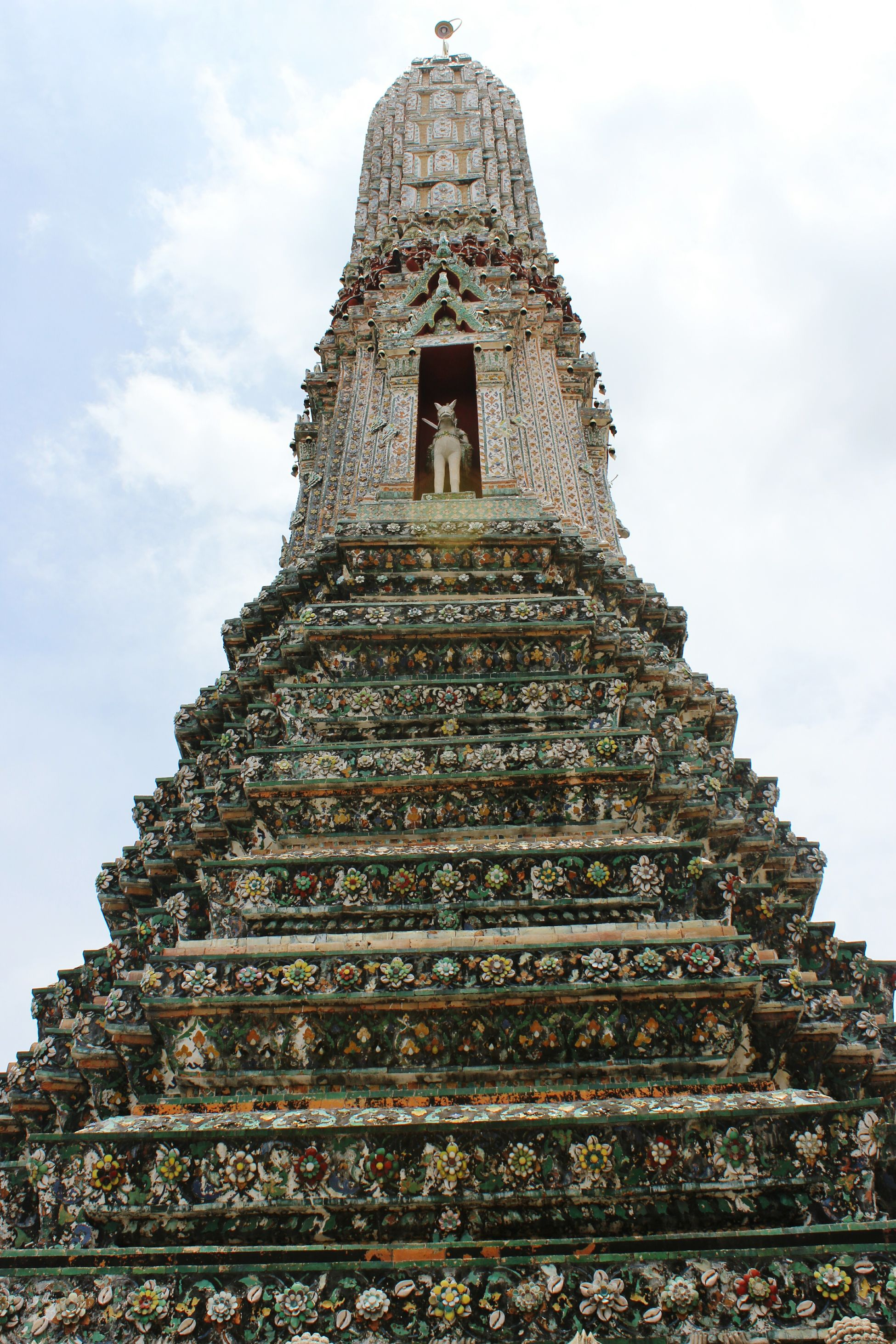Temple Culture Thailand Vacation Travel Morning Enjoying Life Sky History