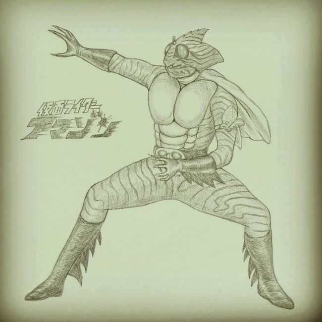 Masked Rider Amazon by Sharp Pencil HB 0.5mm. Art Drawing Illustration HERO Japan Pencil Amazon Maskedrider Pencilillustration Ishinomori Maskedrideramazon