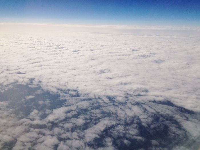 From An Airplane Window Fresh Air Sky Sky And Clouds